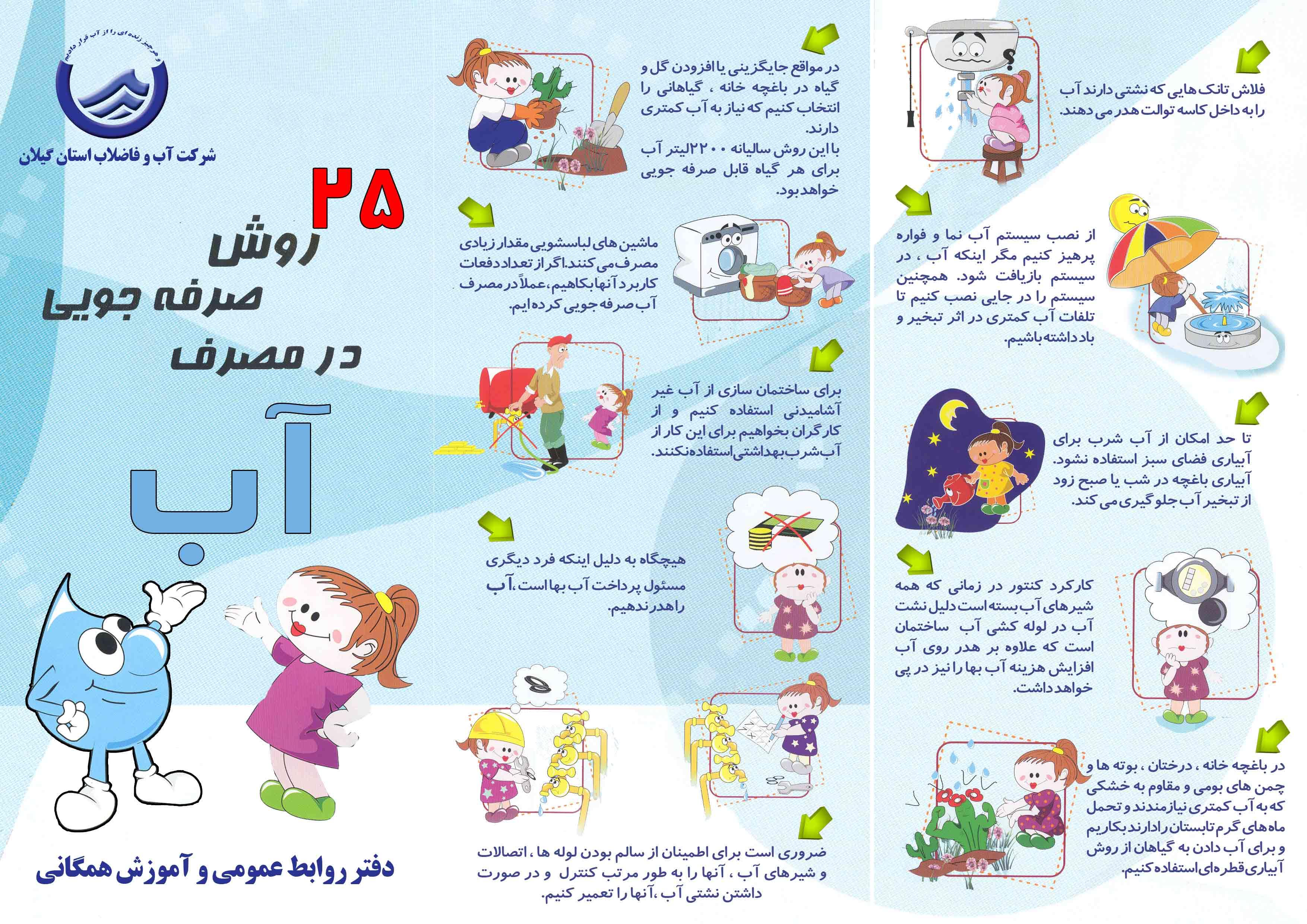 25 روش صرفه جویی در مصرف آب (استان گیلان)