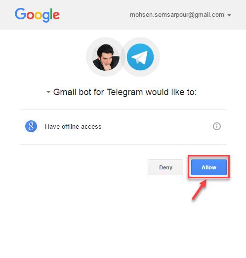 استفاده از جیمیل بات در تلگرام